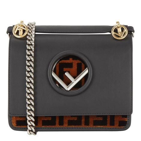 KAN I Textured Logo Shoulder Bag Small, ${color}