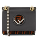 KAN I Textured Logo Shoulder Bag Small , ${color}