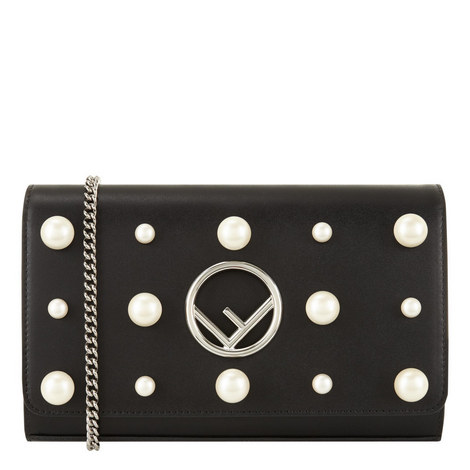 Chain Wallet Pearl Bag , ${color}
