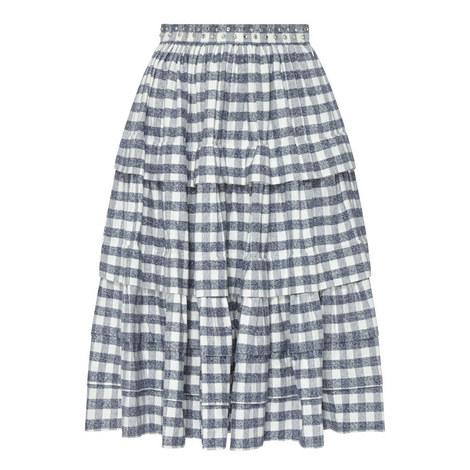 Plaid Encrusted Skirt, ${color}