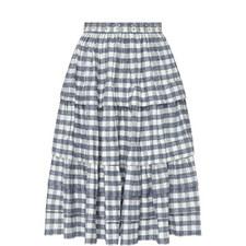 Plaid Encrusted Skirt