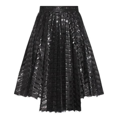 Gel Stripe Asymmetric Skirt, ${color}