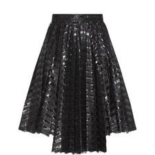 Gel Stripe Asymmetric Skirt