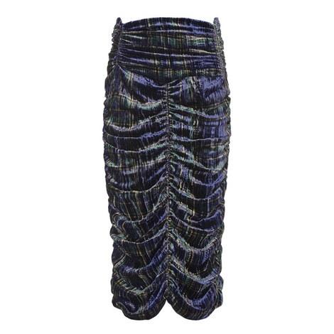 Plaid Velvet Skirt, ${color}