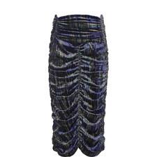Plaid Velvet Skirt