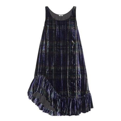 Plaid Velvet Tunic Dress, ${color}