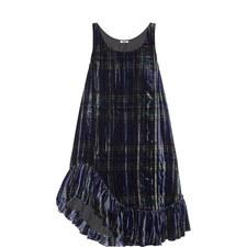 Plaid Velvet Tunic Dress