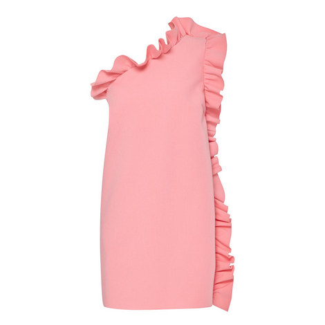 One-Shoulder Frill Dress, ${color}