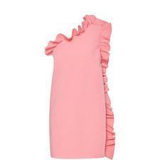 One-Shoulder Frill Dress