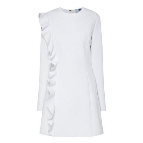 Frill Front A-Line Dress, ${color}