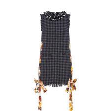 Tweed Ribbon Detail Dress