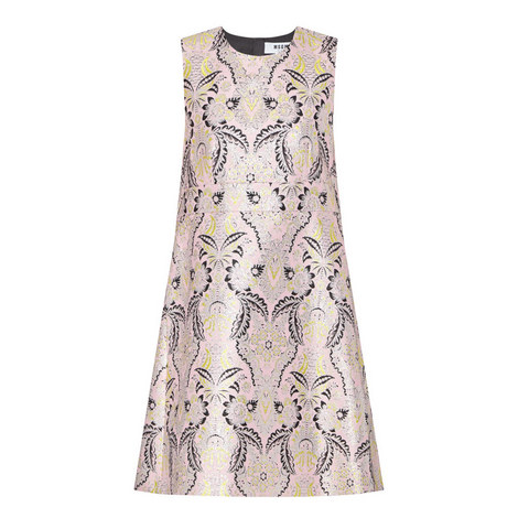 Jacquard A-Line Dress , ${color}