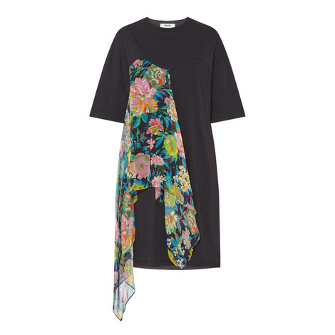 T-Shirt Floral Dress, ${color}