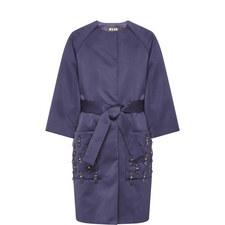 Embellished Pocket Boxy Coat