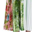 Printed A-Line Skirt , ${color}
