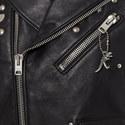 Icon Rivet Leather Biker Jacket, ${color}