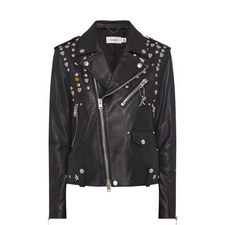 Icon Rivet Leather Biker Jacket