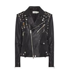 Icon Rivet Leather Biker Jacket