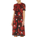 Rose Print Bib Front Dress, ${color}