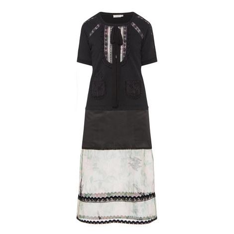 Short Sleeve Sweatshirt Dress, ${color}