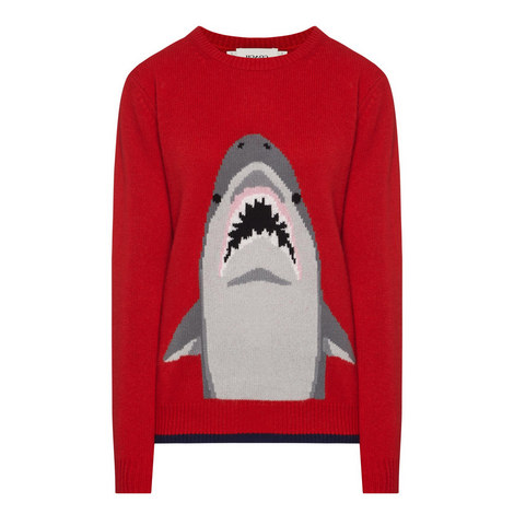 Shark Crew Neck Sweater, ${color}