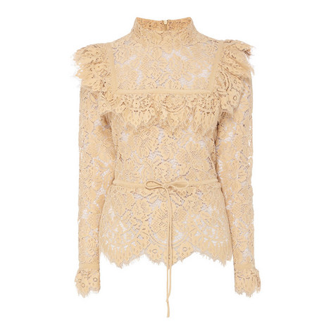 Jerome Lace Frill Top, ${color}