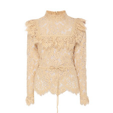 Jerome Lace Frill Top