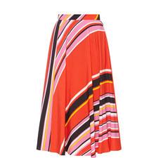 Diagonal Stripe Skirt