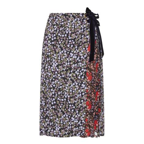 Mittie Floral Print Wrap Skirt, ${color}