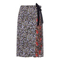 Mittie Floral Print Wrap Skirt , ${color}