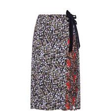 Mittie Floral Print Wrap Skirt
