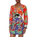 Alanna Cherry Blossom Print Mini Dress, ${color}