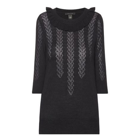 Lace Stitch Crew Neck Sweater, ${color}