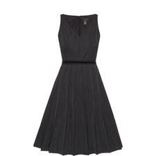 V-Neck Faille Dress