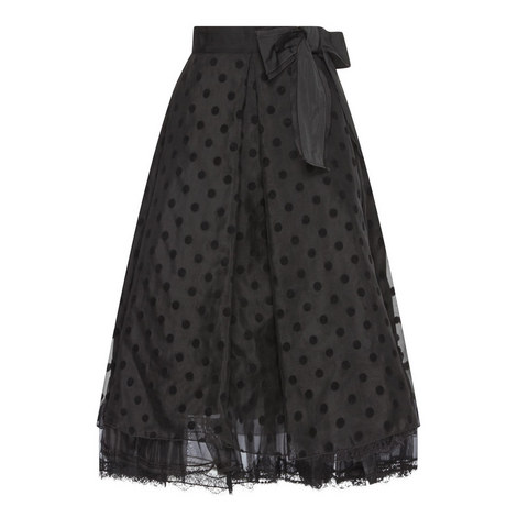 Bow Detail Organza Skirt, ${color}