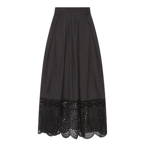 Lace Trim A-Line Skirt, ${color}