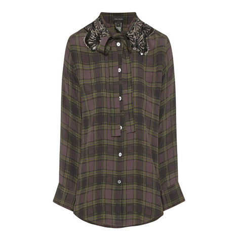 Sequin Check Shirt, ${color}