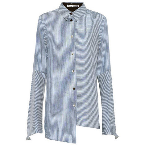 Balzac Striped Linen Shirt, ${color}