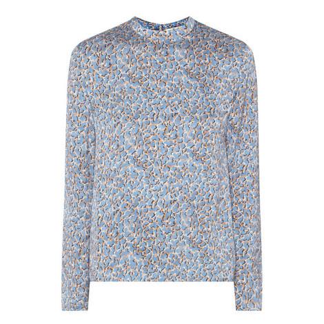 Birol High-Neck Mosaic Top, ${color}