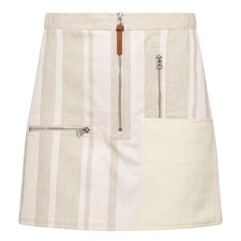 Hilaria Stripe Mini Skirt , ${color}