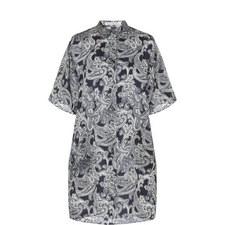 Debrah Paisley Print Shirt Dress