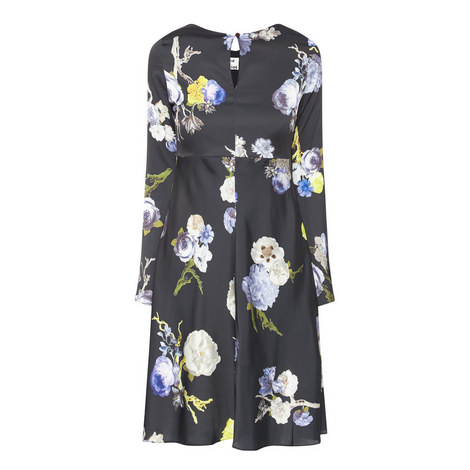 Dahari Flower Print Dress, ${color}