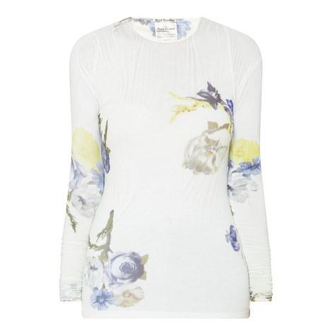 Niala Sheer Floral Top, ${color}