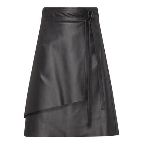 Lakos Leather Skirt, ${color}