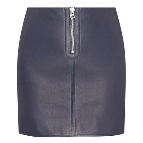 Franca Leather Mini Skirt, ${color}