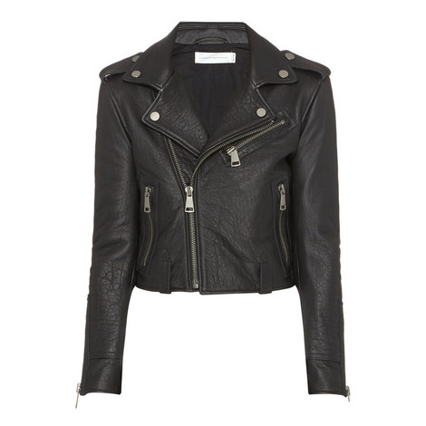 Cropped Leather Jacket, ${color}