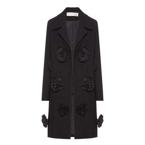 Ruffle Appliqué Coat, ${color}