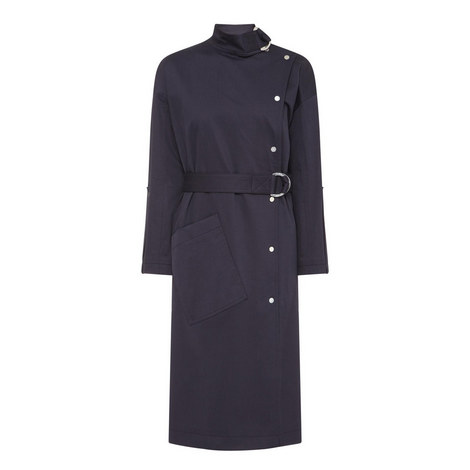 Asymmetric Trench Coat, ${color}