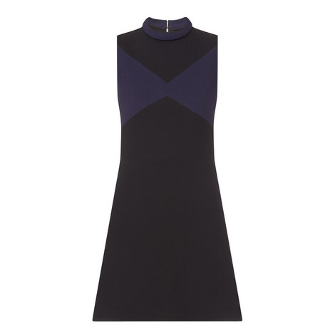 Sleeveless Crepe Dress, ${color}