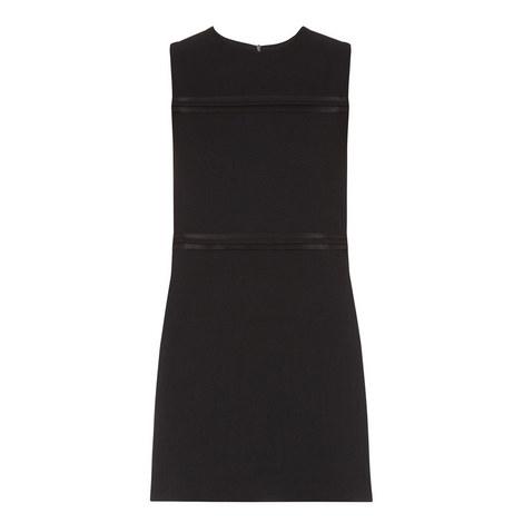 Sleeveless Wool Crepe Shift Dress, ${color}